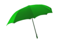 Small green umbrela icon